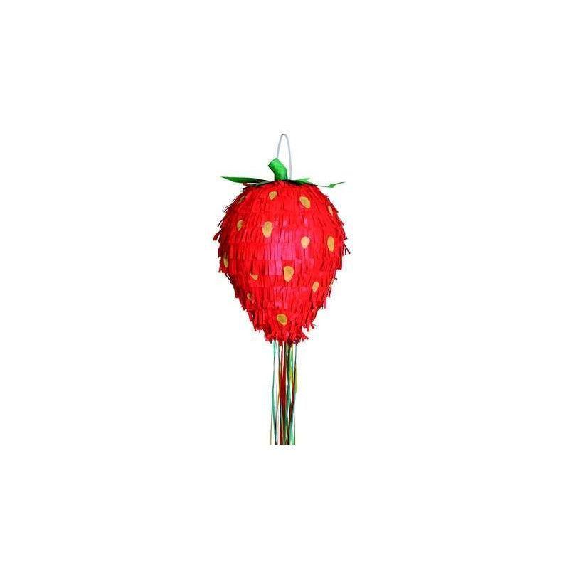 Pinata fraise environ 52 cm Déco festive 40179050