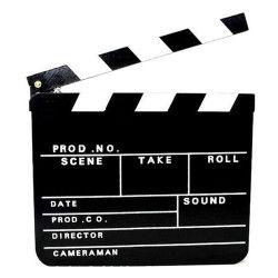 Clap de cinéma en ardoise 30x26.5 cm Accessoires de fête 4021