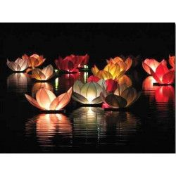 Déco festive, Bougie lotus 30x30 cm x 8, 4087, 0,90€