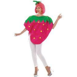 Déguisements, Déguisement de fruit grosse fraise adulte femme, 41552CLOWN, 29,90€