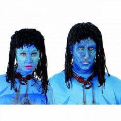 Perruque indigène bleue Accessoires de fête 4196