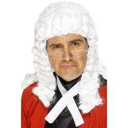 Perruque blanche de juge homme Accessoires de fête 42197