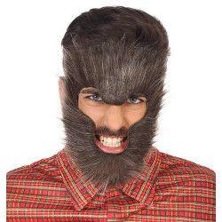 Barbe loup garou homme Accessoires de fête 42253