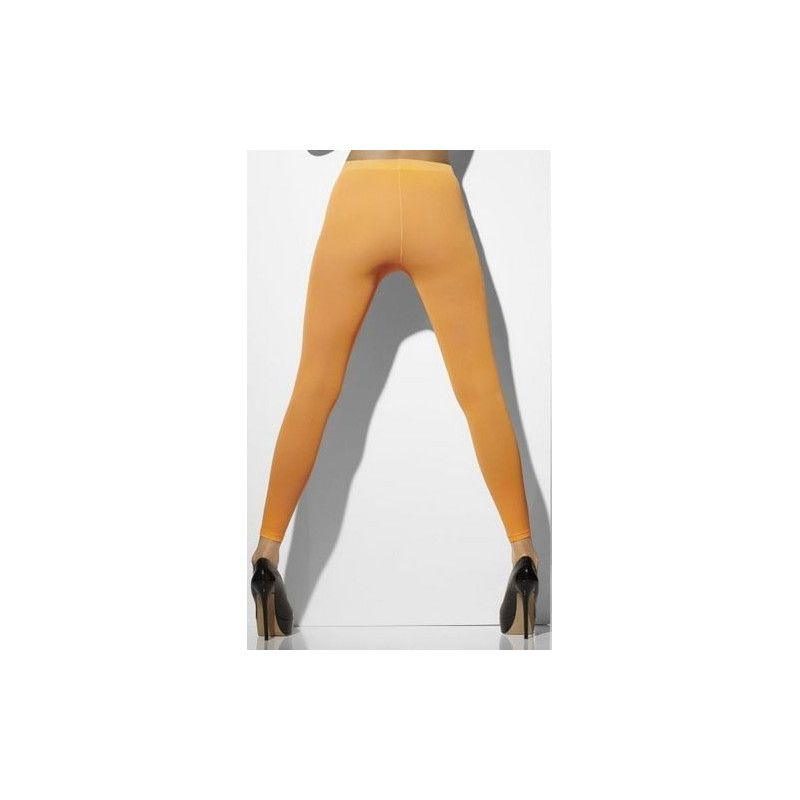 Leggings orange néon femme Accessoires de fête 42793