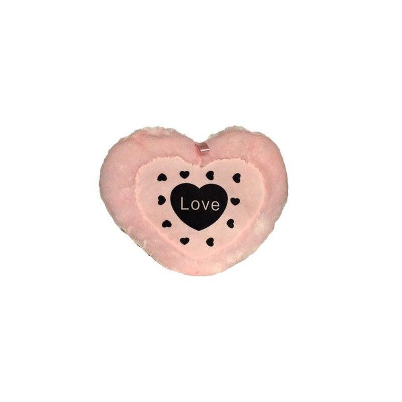 Peluche coeur rose 30 cm Jouets et articles kermesse 4315