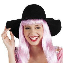 Accessoires de fête, Chapeau capeline noir femme, 4360, 8,90€