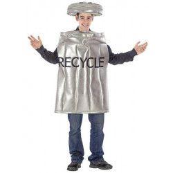 Déguisements, Déguisement de poubelle de recyclage adulte, 43852, 29,90€