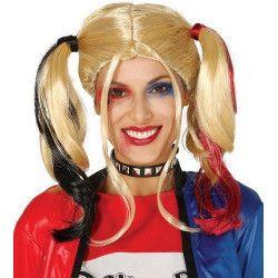 Perruque blonde avec couettes Accessoires de fête 4389