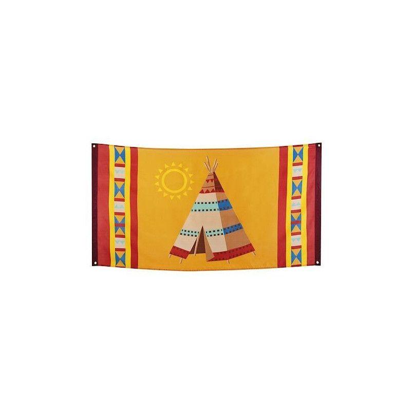 Drapeau déco tipi indien 150 cm Déco festive 44103