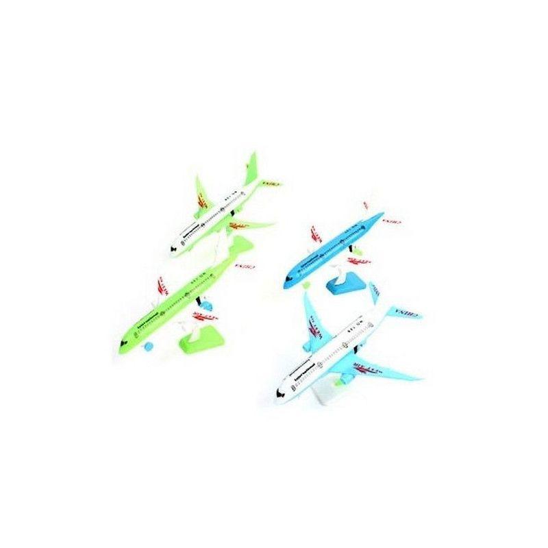 Avion de ligne RF 12 cm avec socle vendu par 24 Jouets et articles kermesse 46203-LOT