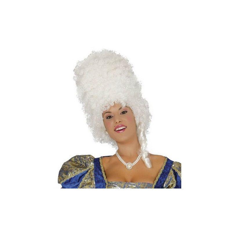 Perruque blanche d'époque femme Accessoires de fête 4690