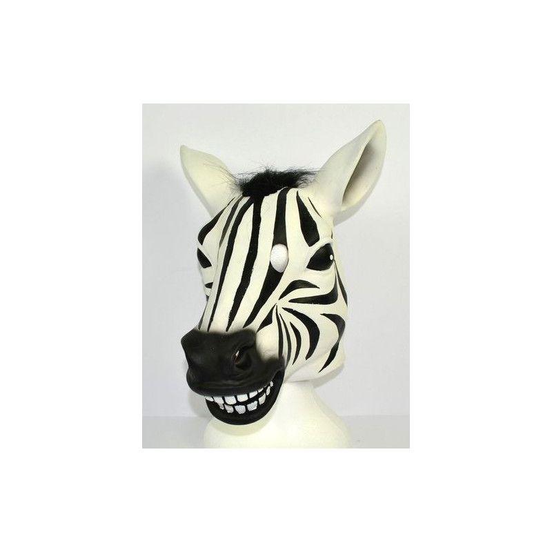 Masque de zébre en latex Accessoires de fête 47532
