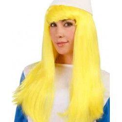 Perruque petite femme bleue Accessoires de fête 4845