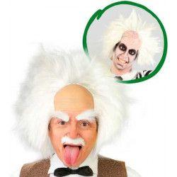 Perruque blanche de savant fou Accessoires de fête 4877