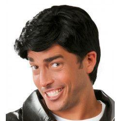 Perruque noire homme Accessoires de fête 4886