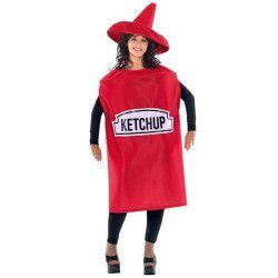 Déguisements, Déguisement bouteille de ketchup adulte, 49152, 29,90€