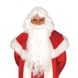 Accessoires de fête, Perruque et barbe blanche de père Noël, 4977, 19,90€