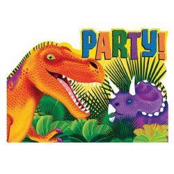 Cartes invitation anniversaire Dinosaure x 8 Déco festive 499766