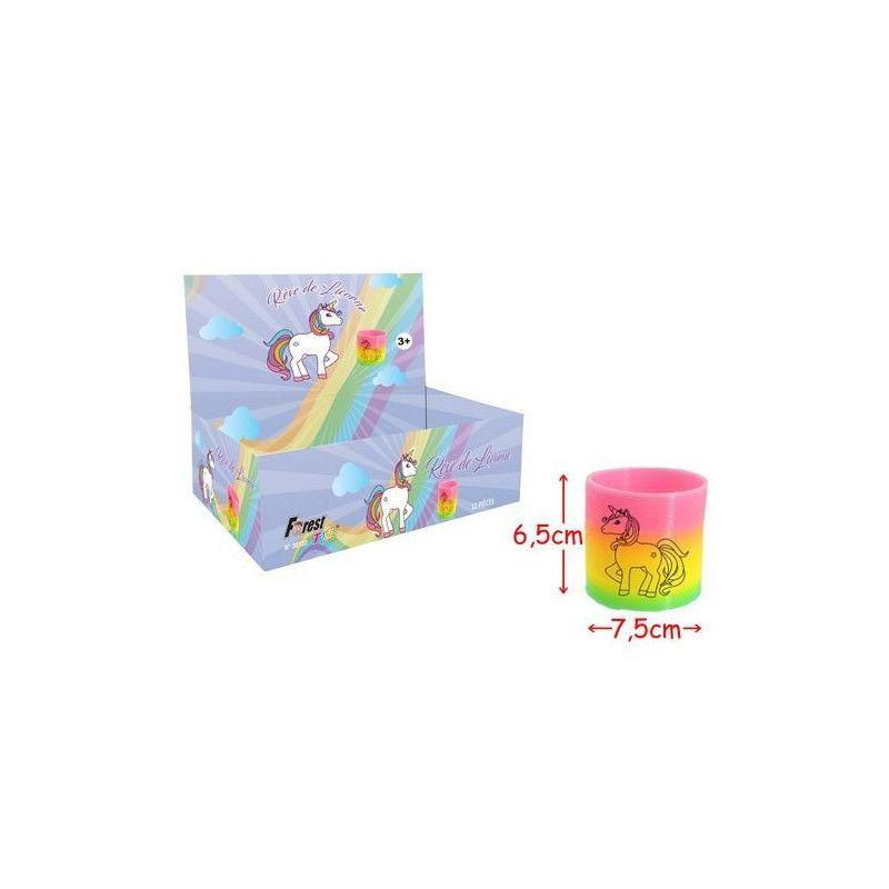Ressort licorne vendu par 12 Jouets et kermesse 50120-LOT