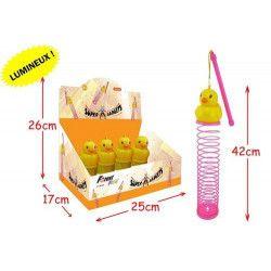 Ressort canard lumineux vendu par 12 kermesse Jouets et articles kermesse 50144-LOT