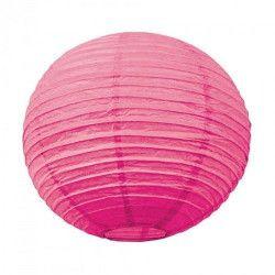 Lanterne japonaise bubble gum fuschia 35 cm Déco festive 50210M
