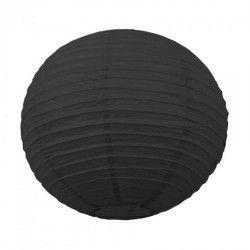 Lanterne japonaise noire 15 cm Déco festive 502111S