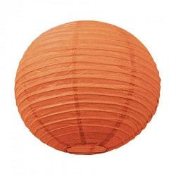 Lanterne japonaise orange 35 cm  3700393653476