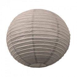 Lanterne japonaise taupe 15 cm  3700393657269
