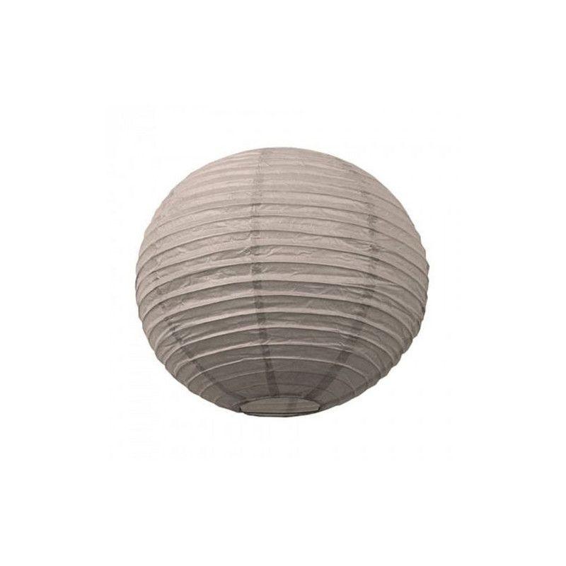 Lanterne japonaise taupe 15 cm Déco festive 502116S