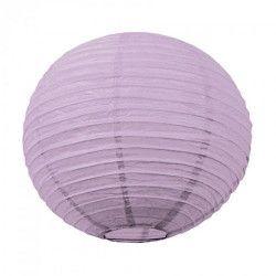 Lanterne japonaise lavande 35 cm  3700393657283