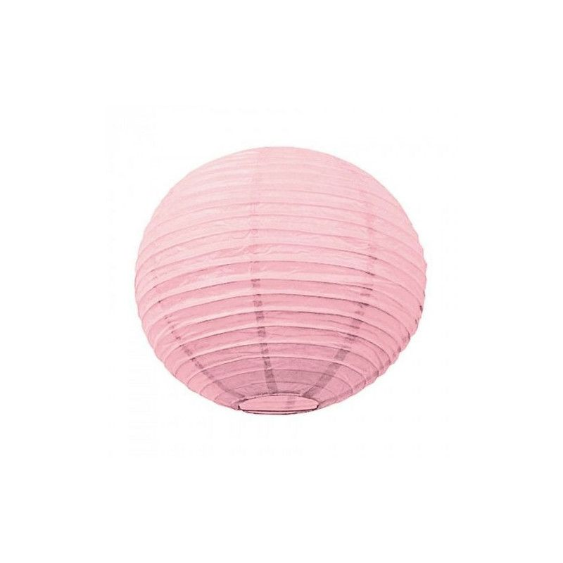 Lanterne japonaise rose dragée 50 cm Déco festive 50211L