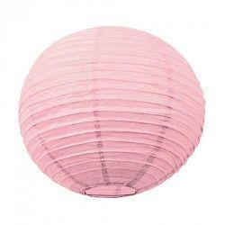 Lanterne japonaise rose dragée 15 cm Déco festive 50211S