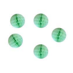 Lot de 5 boules alvéolées vert céladon 5 cm Déco festive 50227XS