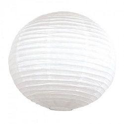 Lanterne japonaise blanche 35 cm Déco festive 5022M