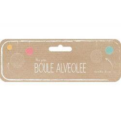 Boule alvéolée rose vintage 30 cm Déco festive 50232L