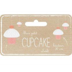 Cupcake alvéolé rose 20 cm Déco festive 50235