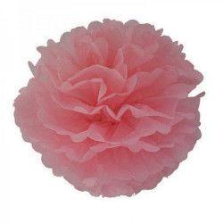 Déco festive, Pompon satin vieux rose 40 cm, 50247, 2,90€