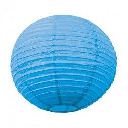 Lanterne japonaise bleu lagon 50 cm Déco festive 5024L