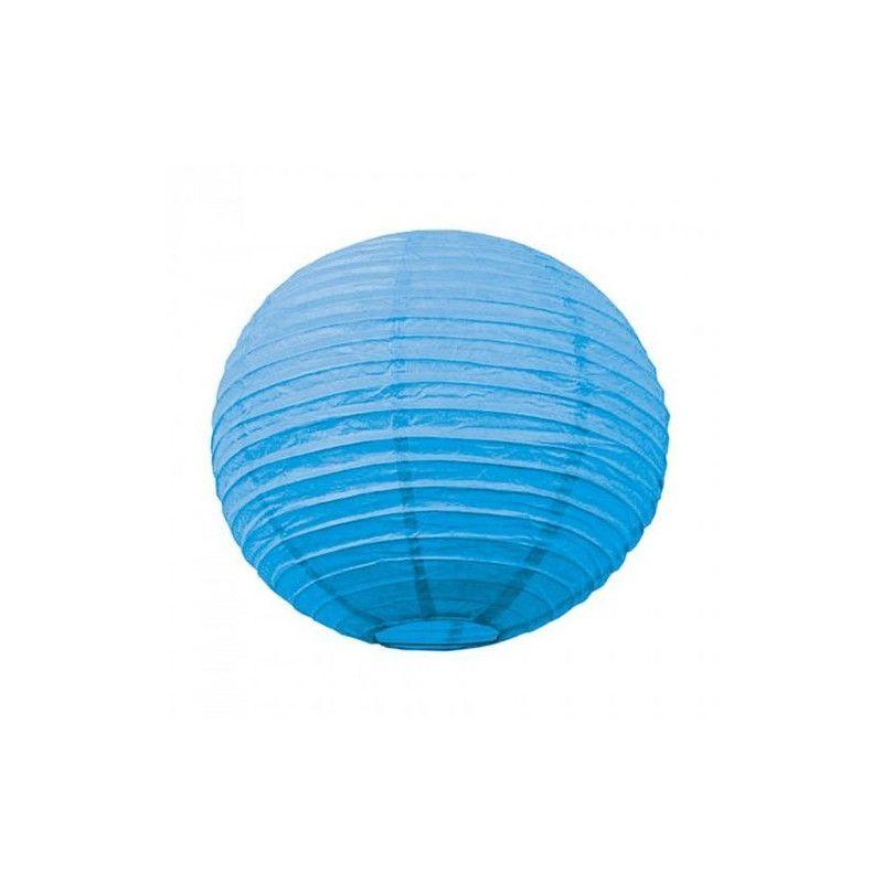 Lanterne japonaise bleu lagon 35 cm Déco festive 5024M