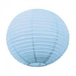 Lanterne japonaise bleu dragée 50 cm Déco festive 5025L