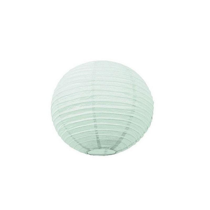Lanterne japonaise menthe claire 35 cm Déco festive 50280M