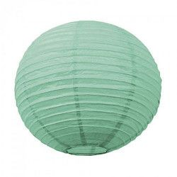 Lanterne japonaise vert d'eau céladon 35 cm Déco festive 5028M