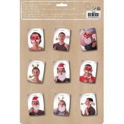 Set 8 accessoires photobooth Noel Accessoires de fête 50295