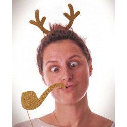 Accessoires de fête, Set 8 accessoires photobooth Noel, 50295, 4,90€