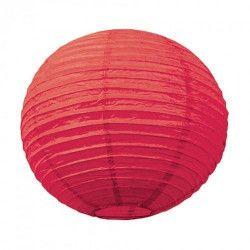 Lanterne japonaise rouge 50 cm Déco festive 5029L