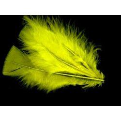 Plumes pied plat jaunes x 100 Accessoires de fête 507722308