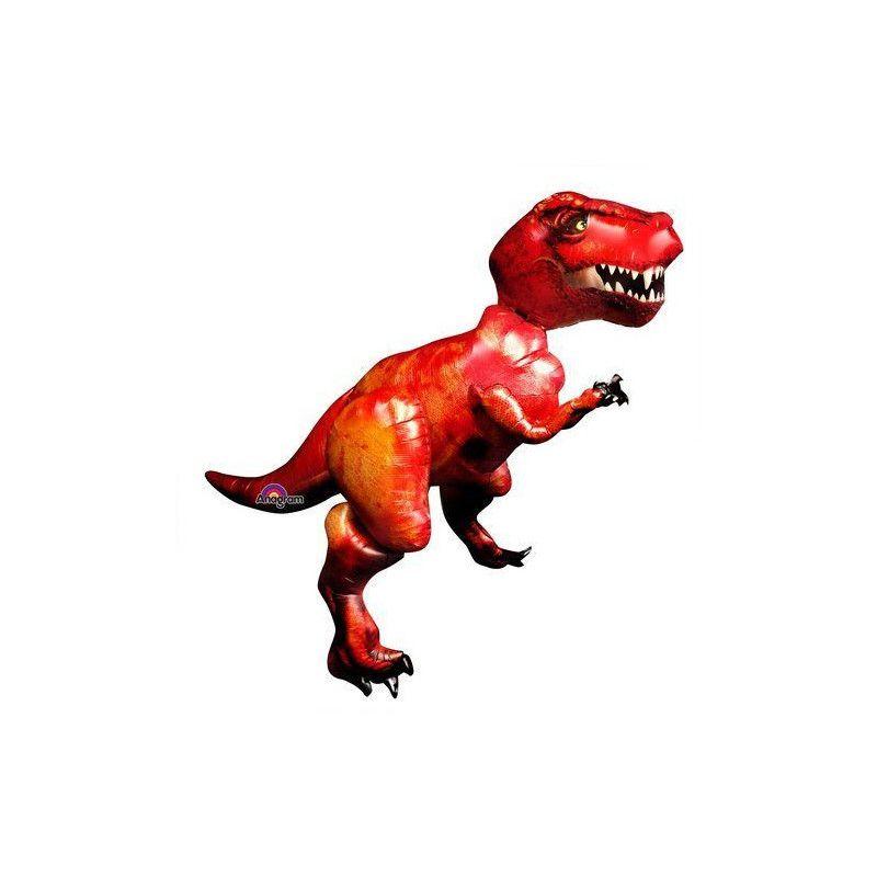 Ballon airwalker tyrannosaure rouge 172 cm Déco festive 110242-01