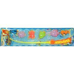 Jouets et kermesse, Pêche à la ligne 50 cm avec 4 animaux des mers, 51058, 1,10€
