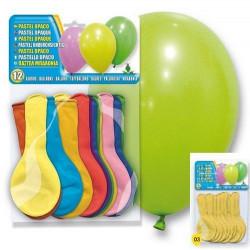 Déco festive, Ballons baudruche moutarde opaques x 12, 5106-03, 1,50€