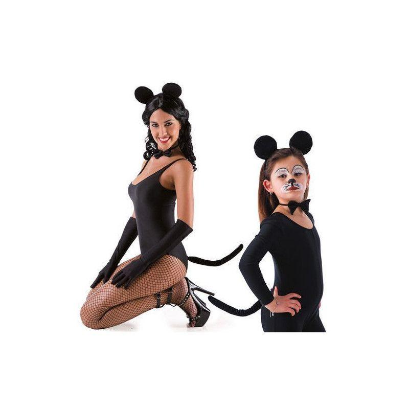 Parure noire de souris Accessoires de fête 5165